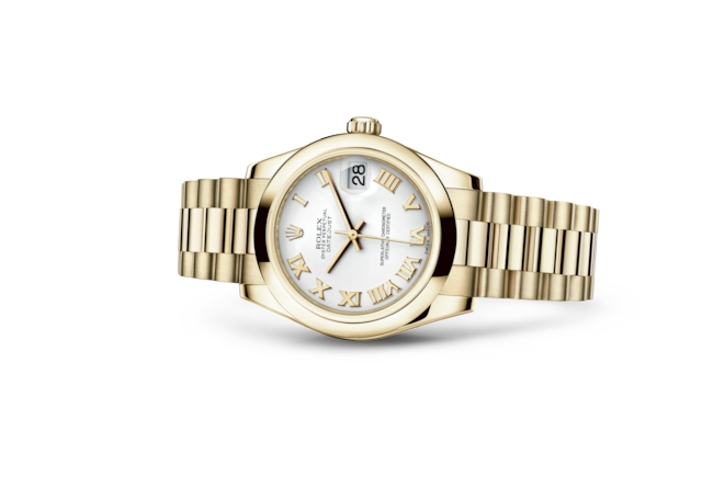 Datejust 31 - White, yellow gold