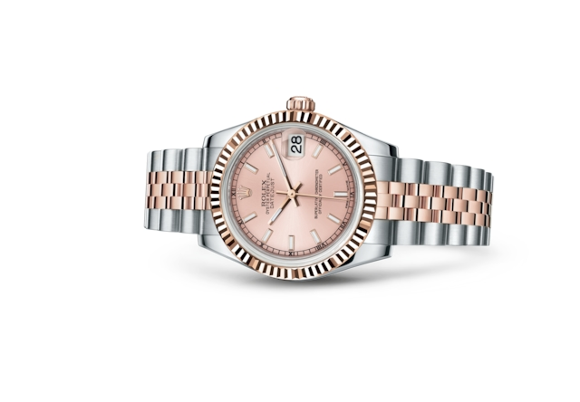 Datejust 31 - Rose, Acier Oystersteel et or Everose