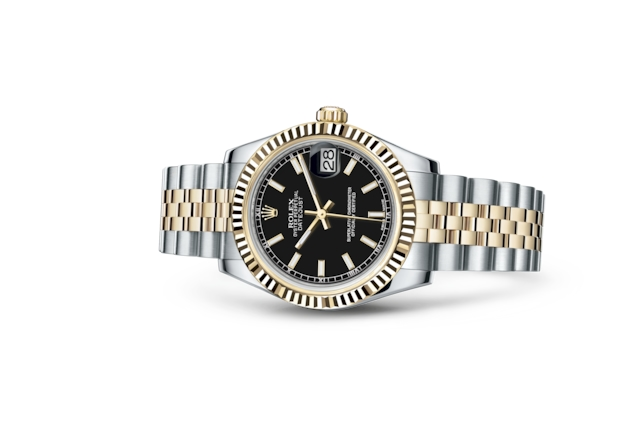 Datejust 31 - Black, Oystersteel and yellow gold