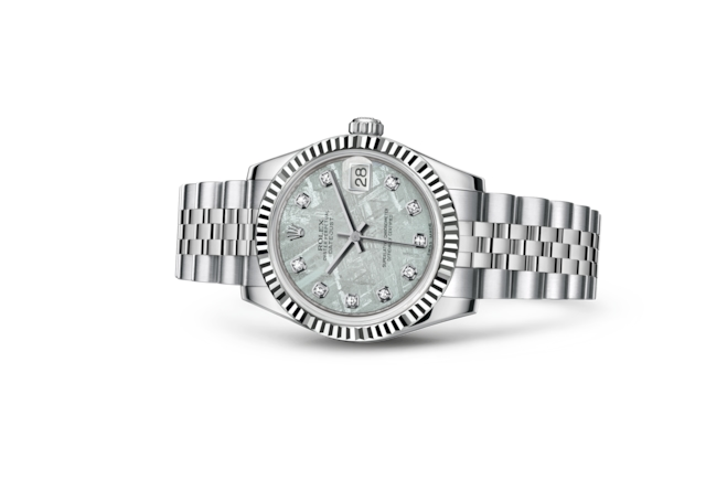 Datejust 31 - Meteorite set with diamonds, Oystersteel and white gold