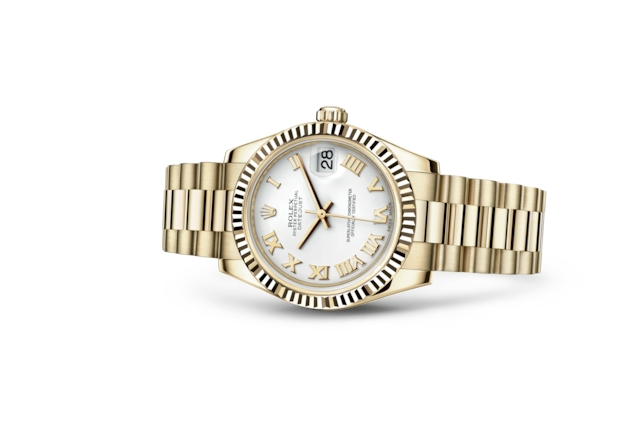 Datejust 31 - Blanc, or jaune