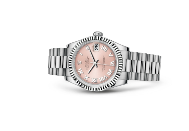 Datejust 31 - Rose, or gris