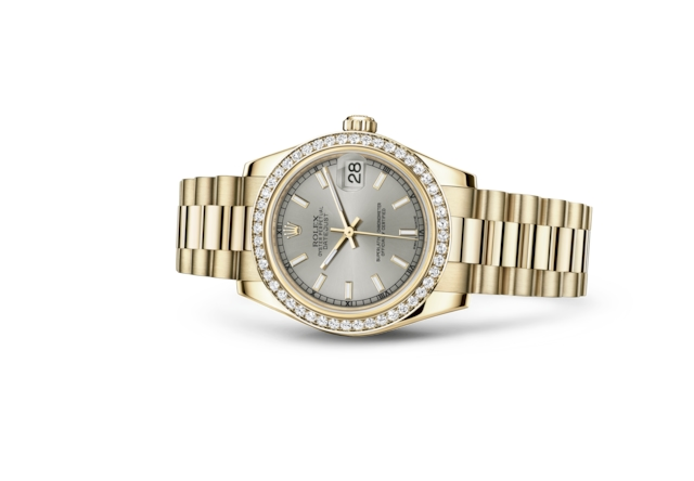 Datejust 31 - Silver, yellow gold and diamonds