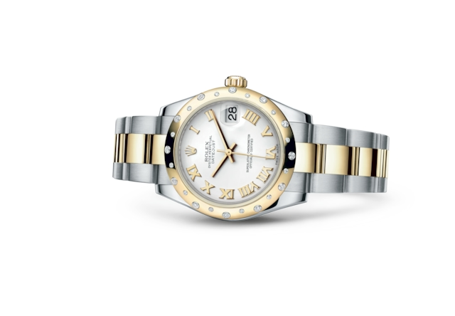 Datejust 31 - Blanc, acier, or jaune et diamants