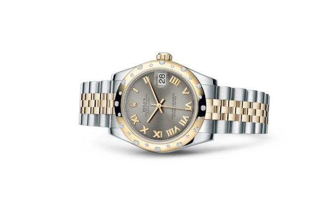 Datejust 31 - Acier, acier, or jaune et diamants