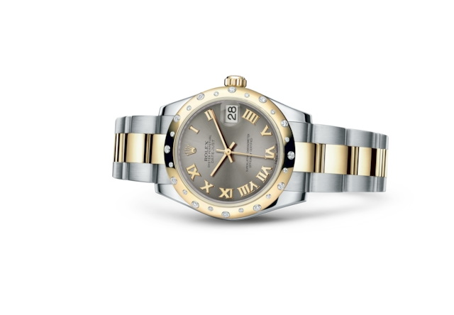 Datejust 31 - Steel, steel, yellow gold and diamonds