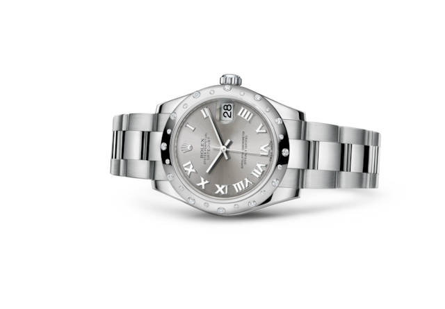 Datejust 31 - Rodium, Oystersteel-staal, witgoud en diamanten