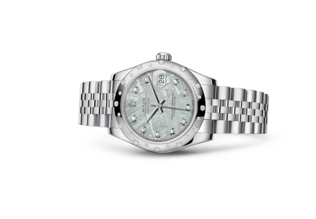 Datejust 31 - Meteorite set with diamonds, Oystersteel, white gold and diamonds