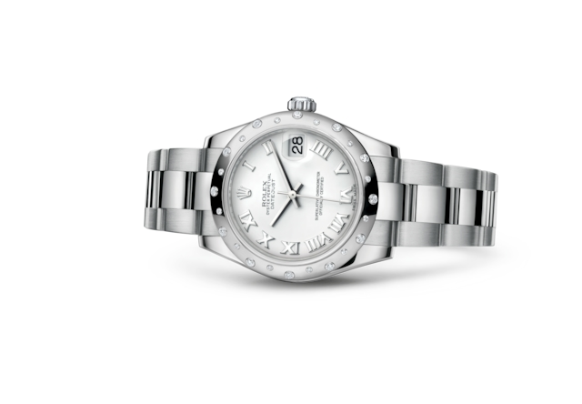 Datejust 31 - Blanc, Acier Oystersteel, or gris et diamants