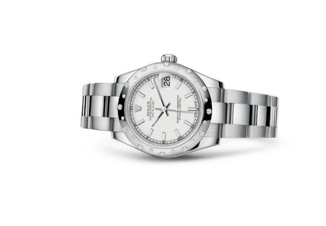 Datejust 31 - Wit, Oystersteel-staal, witgoud en diamanten