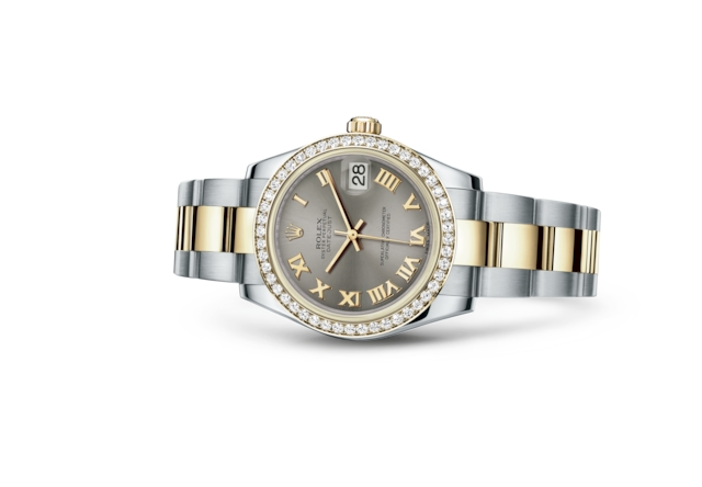 Datejust 31 - Acier, Acier Oystersteel, or jaune et diamants