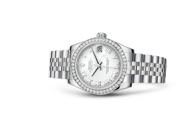 Datejust 31 - White, Oystersteel, white gold and diamonds
