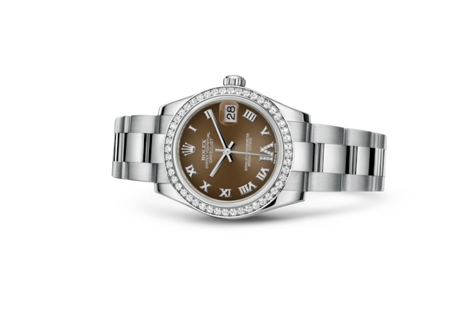 Datejust 31 - Bronze, steel, white gold and diamonds