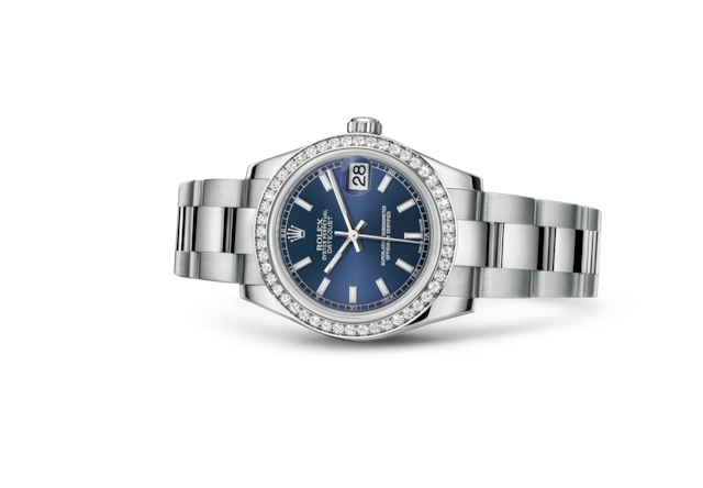 Datejust 31 - Blue, Oystersteel, white gold and diamonds