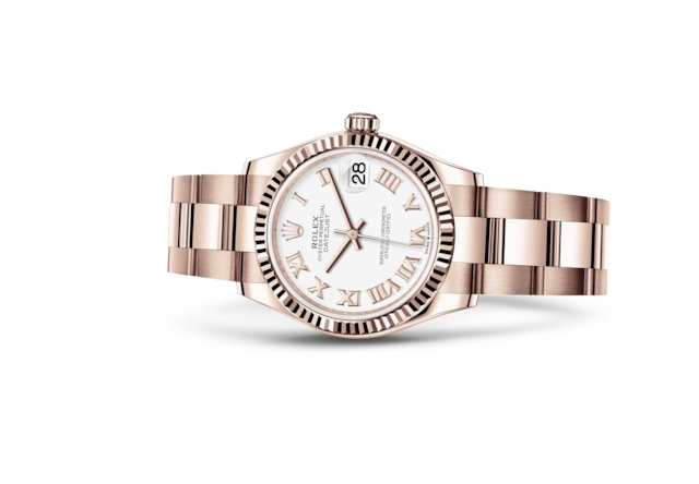 Datejust 31 - Weiß, Everose-Gold