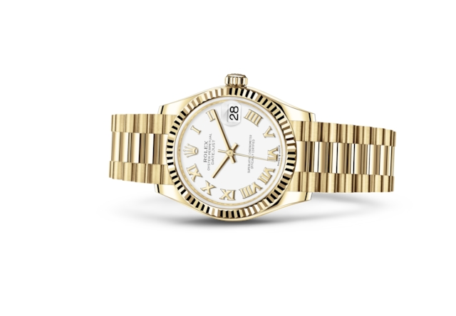 Datejust 31 - Wit, geelgoud