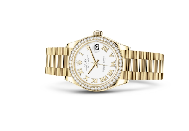 Datejust 31 - Wit, geelgoud en diamanten