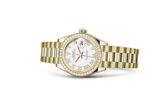 Lady-Datejust 28 - White, yellow gold and diamonds
