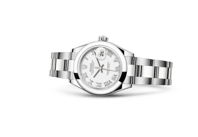 Lady-Datejust 28 - White, Oystersteel