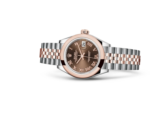 Lady-Datejust 28 - Chocolate, Oystersteel and Everose gold