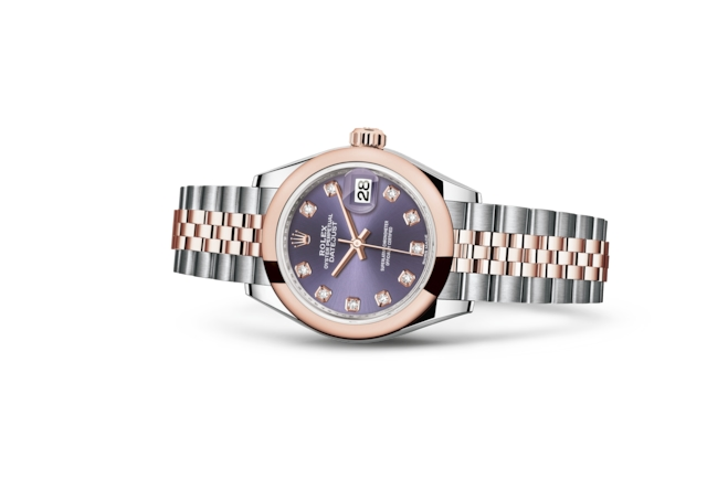 Lady-Datejust 28 - Цвета баклажана (Aubergine), бриллианты, сталь Oystersteel и золото Everose