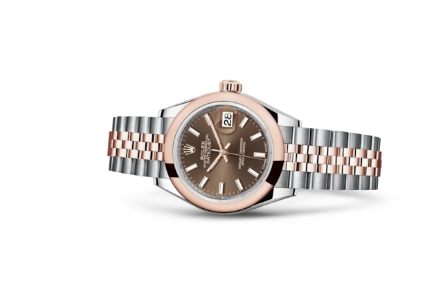 Lady-Datejust 28 - Chocolate, Oystersteel và vàng Everose