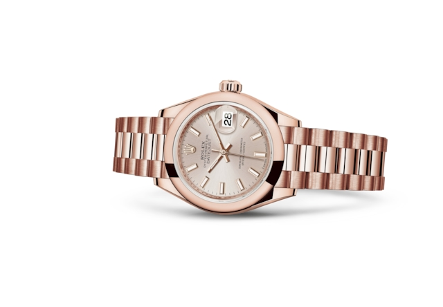 Lady-Datejust 28 - Sundust, ouro Everose