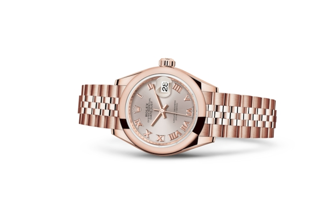 Lady-Datejust 28 - Sundust, Everose-goud