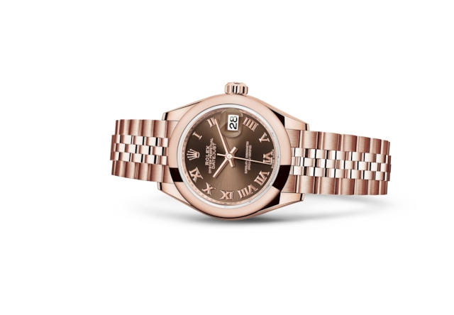 Lady-Datejust 28 - Chocolate, oro Everose