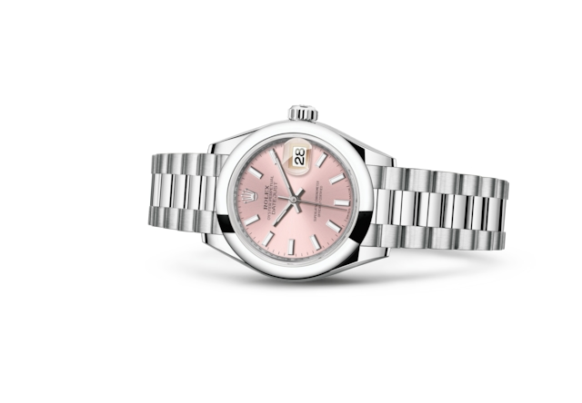 Lady-Datejust 28 - Rosa, Platino