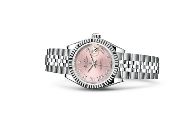 Lady-Datejust 28 - Pink, Oystersteel and white gold