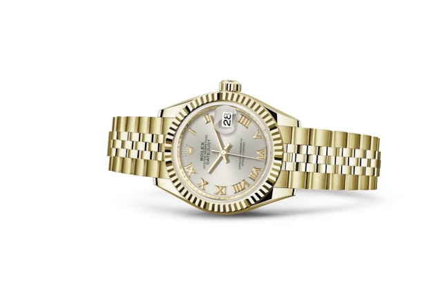 Lady-Datejust 28 - Zilver, geelgoud