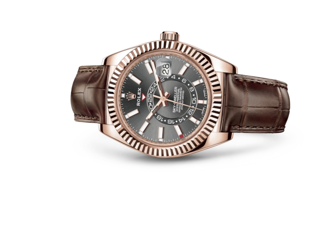 Sky-Dweller - Rhodium scuro, oro Everose