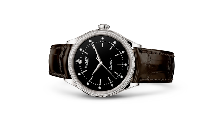 Cellini Time - Preto cravejado de diamantes, ouro branco e diamantes