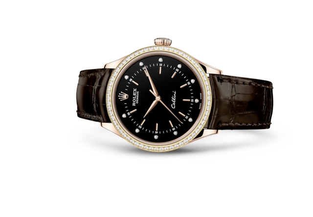 Cellini Time - Noir, serti de diamants, or Everose et diamants