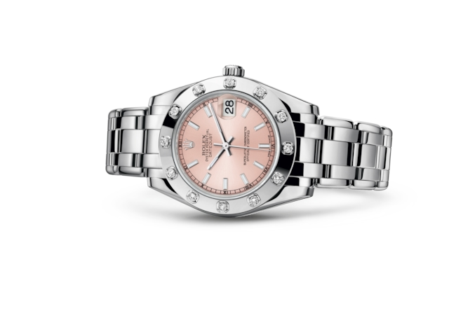 Pearlmaster 34 - Pink, white gold and diamonds