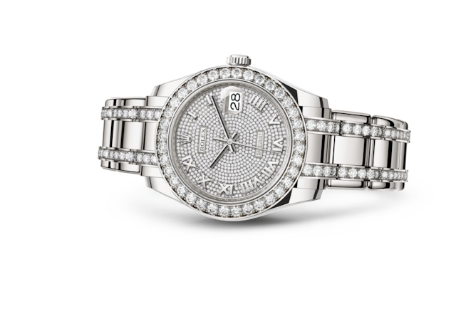 Pearlmaster 39 - Diamond-paved, white gold and diamonds