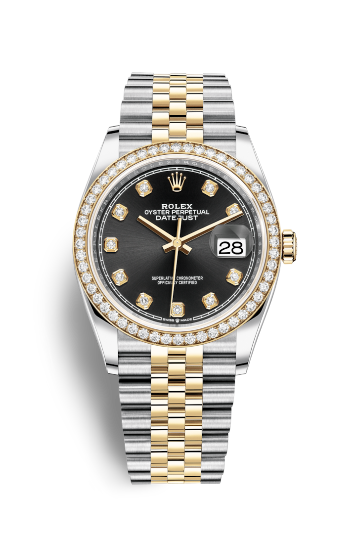 Rolex datejust 36 watch yellow rolesor combination of oystersteel and 18 ct yellow gold for Rolex date just 36