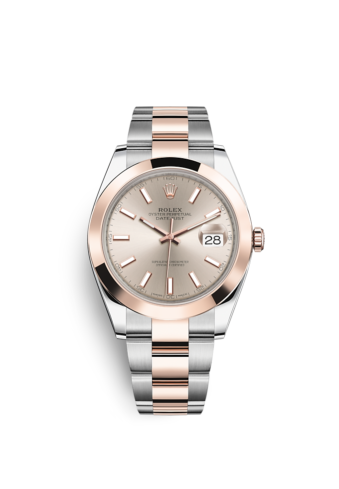 Datejust 41, Oyster, 41 mm, acero Oystersteel y oro Everose