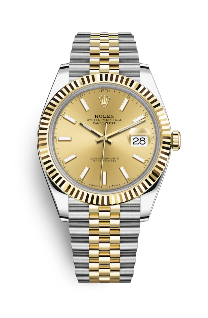 Rolex Datejust 41 Watch  Yellow Rolesor - combination of Oystersteel ... 21c6482699e0