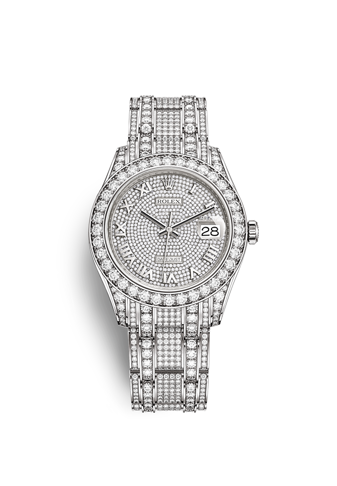Pearlmaster 39, Oyster, 39 mm, white gold and diamonds